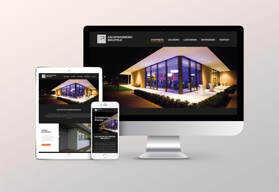 Webdesign, Website Relaunch für Architekturbüro Bielefeld