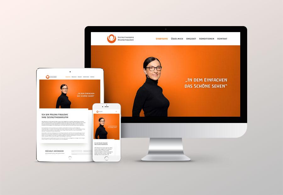 Gestaltung und Umsetzung einer Internetseite für Gestalttherapeutin Milena Firulovic